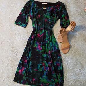 London Times multi color dress size 8
